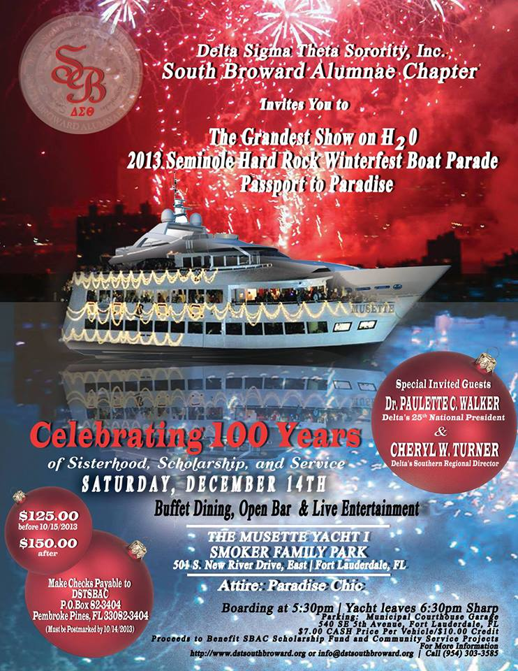 Boat Parade flyer 2013